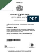 Scattershot Ltd Incorporation Document