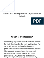 History and Development of Legal Profession in India