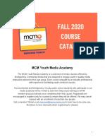 MCM Fall 2020 Course Catalog[1]