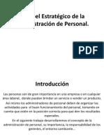 El papel Estratégico de la Administración de Personal