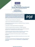 The Twenty Strategic Social Marketing Questions