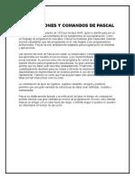 INSTRUCCIONES Y COMANDOS DE PASCAL
