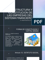 ESTRUCTURA Y CONSTITUCION DE LOS BANCOS