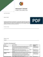 nov-dec president's report table