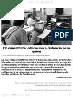 En cuarentena_ educación a distancia para quién _ La tinta