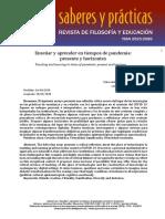 Carina Lion- Enseñar y aprender en tiempos de pandemia- presente y horizontes- Saberes y prácticas.pdf