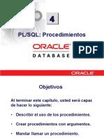 PLSQL 4 Procedimientos