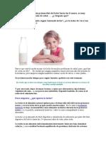 La leche es el alimento primordial del bebé hasta los 6 meses