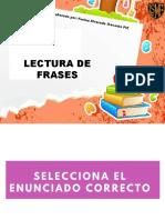 LECTURA DE FRASES