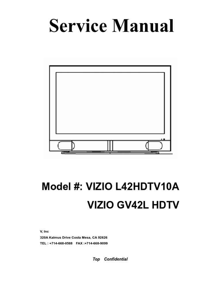 Vizio Gv42l Hdtv Service Manual Hdmi Sampling Signal Processing Dc41 Cleanerhead Pcb Printed Circuit Board Assembly