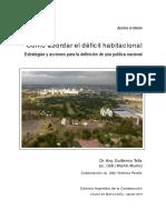 Como abordar el deficit habitacional