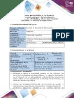 Guía  de actividades y rúbrica de evaluación - Actividad 3 - Informe de observación