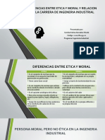 DIFERENCIAS ENTRE ETICA Y MORAL Y RELACION CON