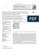 Oxidative potential of on-road fine particulate matter (PM2.5) measured on major freeways of Los Angeles, CA, and a 10-year comparison with earlier roadside studies