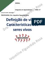 1_Definição de vida e caracteristicas dos seres vivos