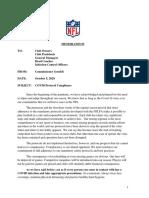 NFL  COVID Protocol Compliance