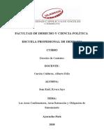 Las Arras Confirmatoria, Arras Retracción y Obligación de Saneamiento