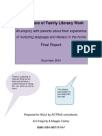 Taking care of family literacy work