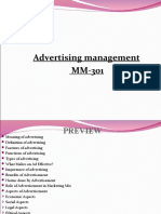 ADVERTISING MANAGEMENT-1ST, 2ND & 3RD TOPIC