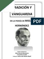 TRADICIÓN Y VANGUARDIA- TRABAJO LENGUA