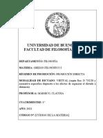 PROGRAMA Griego filosófico I 2021 (Mársico-Bieda)