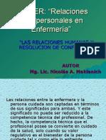11- RELACIONES INTERPERSONALES EN ENFERMERIA