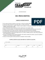 Prova Vunesp - Agente Administrativo - Transerp