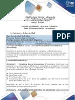 Guia de actividades y Rúbrica de evaluación - Fase 1-Fundamentación y presaberes