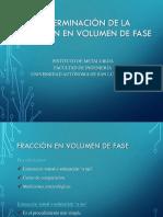 MO-FRACCION EN VOLUMEN DE FASE
