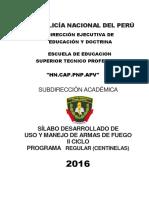 SILABO USO Y MANEJO DE ARMAS DE FUEGO II  SEMESTRE hoy.pdf