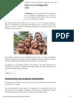 Paradigma interpretativo en investigación_ características, autores - Lifeder