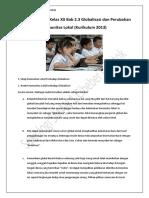Materi Sosiologi Kelas XII Bab 2.3 Globalisasi dan Perubahan Komunitas Lokal (Kurikulum 2013)