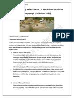 Sosiologi Kelas XII Bab 1.2 Perubahan Sosial dan Dampaknya (Kurikulum 2013)