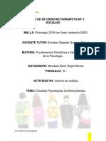 informe escuelas contemporaneas