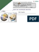 Ficha de trabalho Localização Absoluta