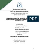 PROYECTO EMPRESA FABRICACION DE LAS PATAS DOBLES PARA MOTO SHINERAY.docx