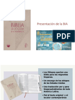 Presentación Biblia de la Iglesia en América