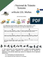 Artículo 131. Multas