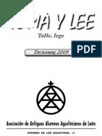 Revista Toma y Lee 2009. Asociación de Antiguos Alumnos Agustinisanos de León
