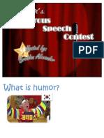 Humorous Speech Contest