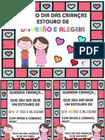 CARTÃO DIA DAS CRIANÇAS ESTOURO