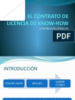 EL CONTRATO DE LICENCIA DE KNOW-HOW