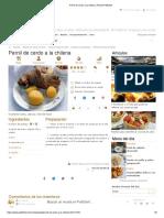 Pernil de cerdo a la chilena, Receta Petitchef