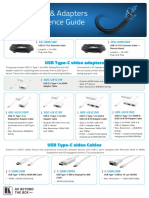 USB Cables & Adapters Quick Reference Guide Kramer 2020