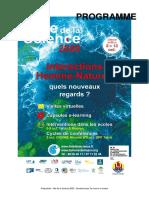 Programme fête de la Science 2020