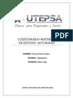 CUESTIONARIO material organizacion