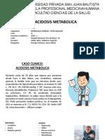 Caso Clinico Acidosis Metabolica