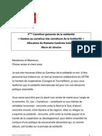 3ème Carrefour genevois de la solidarité-28 janvier 2011