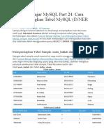 Tutorial Belajar MySQL Part 24