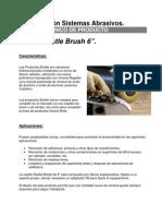 3M Radial Bristle Brush 6inch